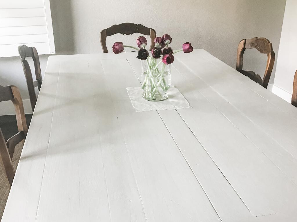 Chalk Painted Farmhouse Table The Bluebonnet Homestead